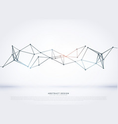 Abstract polygonal mesh diagram design background vector
