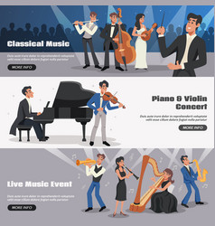 musician banner set vector image