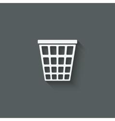 empty trash basket vector image