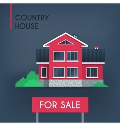 Pink country house vector
