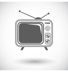Tv single icon vector