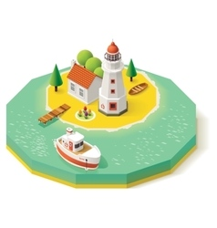Isometric lighthouse vector