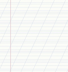 School notebook line vector