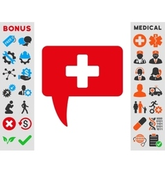 Medical answer icon vector