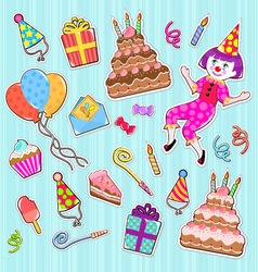 Birthday icons vector