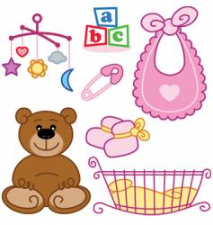 Baby cards vector