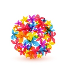 Abstract colorful flowers vector