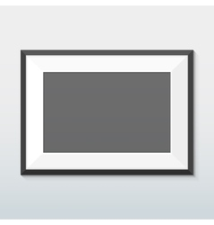 Horizontal mount black frame mockup vector