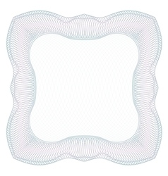 Square guilloche frame vector