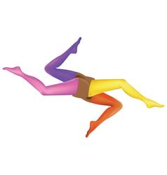 Abstract leg art vector image vector image