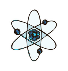 atom isolated biology science atomic model vector image
