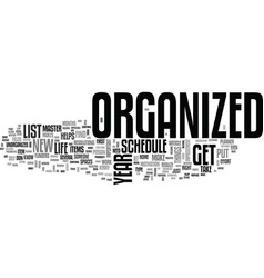 Begin the new year right get organized text word vector