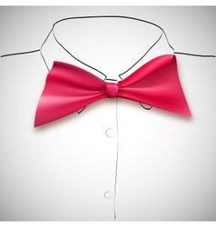 Bow tie on a background sketch the shirt vector
