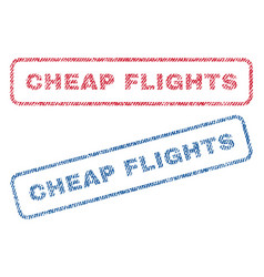 cheap flights textile stamps vector image vector image