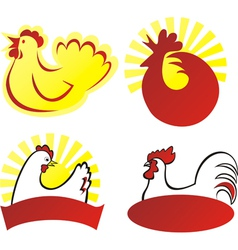 Chicken sign vector