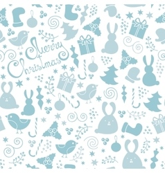 Christmas elements seamless pattern vector