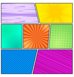comic book page bright background vector image vector image