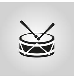 Drum icon design music and toy symbol web vector