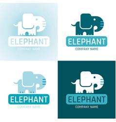 elephant wild animal icon set text lettering logo vector image