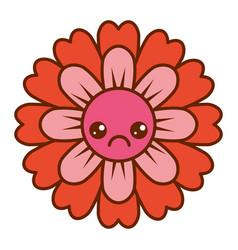 Flower kawaii cartoon cute petals vector