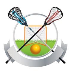 Lacrosse emblem vector