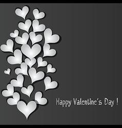 Love pattern heart banner vector image vector image