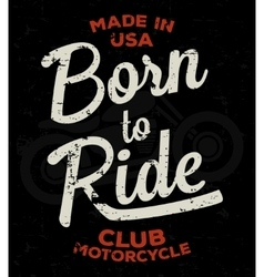 Motorbike race racer motorcycle typography vector image vector image