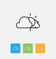 Of climate symbol on weather vector
