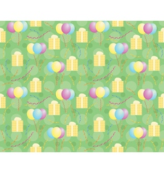 pattern with presents and balloons vector image