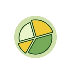 Pie chart colorful icon vector