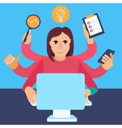 self employed woman vector image vector image