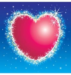 shiny shiny heart vector image vector image