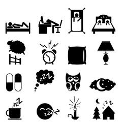 Sleeping icons set vector
