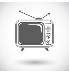 TV single icon vector image vector image