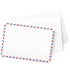 White paper envelops vector