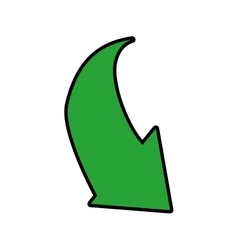 Green arrow down direction icon graphic vector