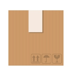 Box carton silhouette icon vector