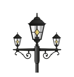Light pole street lamp close up vector
