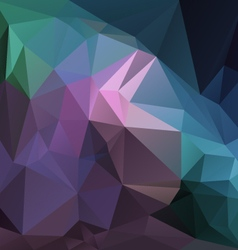 purple violet blue green multi colored polygon vector image