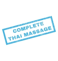 Complete thai massage rubber stamp vector