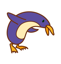 A penguin is standing vector