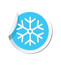 Weather forecast snowflake icon vector