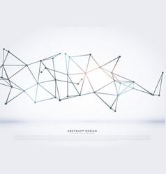 Technology wireframe polygonal mesh abstract vector
