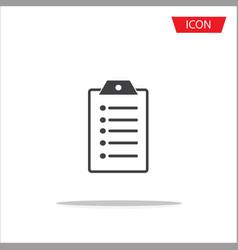 checklist line icon clipboard icon vector image