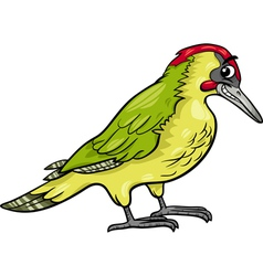 Yaffle bird animal cartoon vector