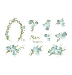 Floral crocus retro vintage background vector image