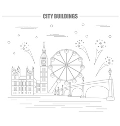 City buildings graphic template uk london vector