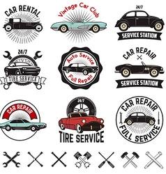 Car repair service labels vector