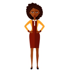 African american worried woman vector