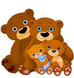 Bear family vector image vector image